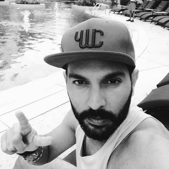 Yuvraj Singh poses for a picture