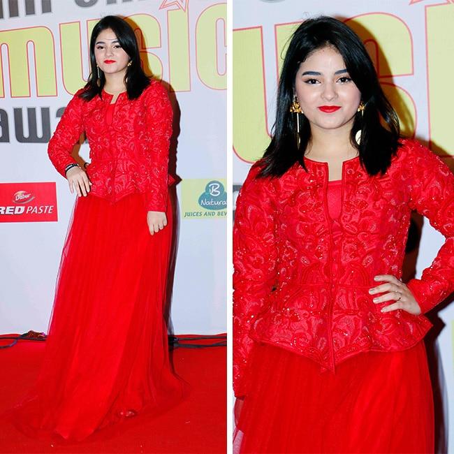Zaira Wasim at red carpet of Mirchi Music Awards 2018