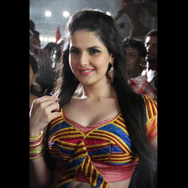 Zarine Khan flaunts her sexy cleavage in this picture