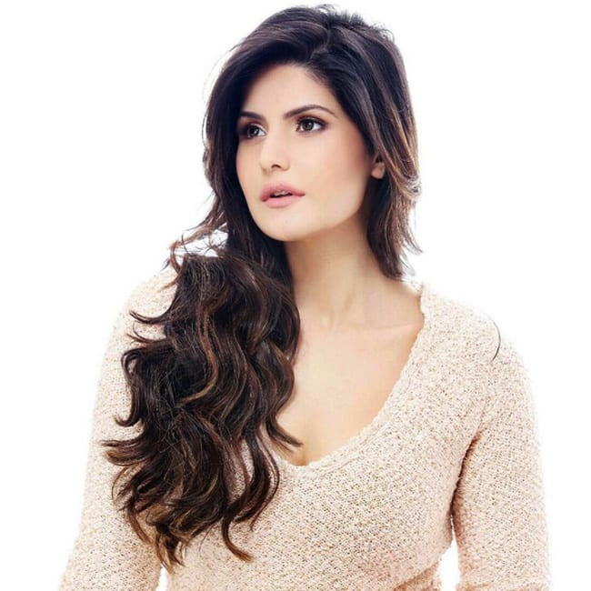 Zarine Khan posing for a sexy shoot